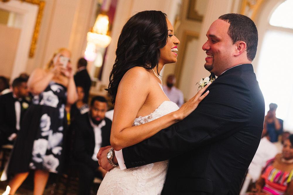 mount vernon ballroom wedding bride and groom dancing