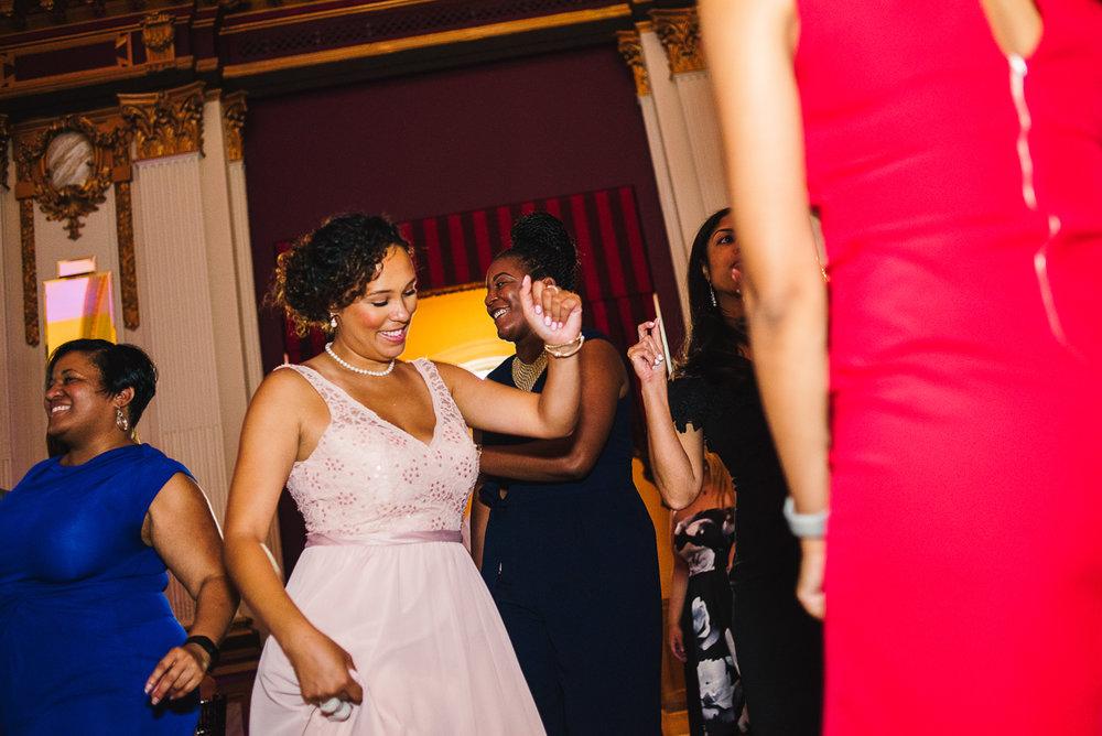 mount vernon ballroom wedding bridesmaid dancing