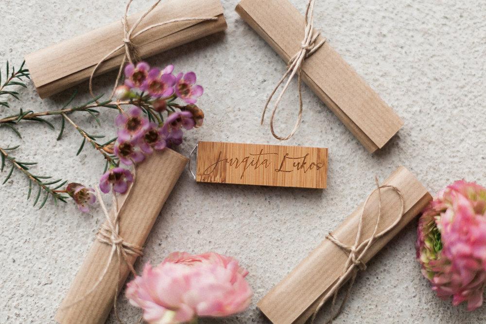 custom laser cut wood usb drives for wedding photos qtalbums
