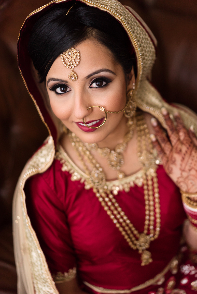 edmonton Indian and filipino wedding bride portrait