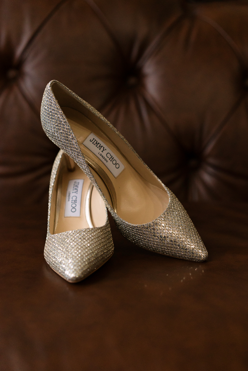edmonton Indian and filipino wedding bride's jimmy choo shoes