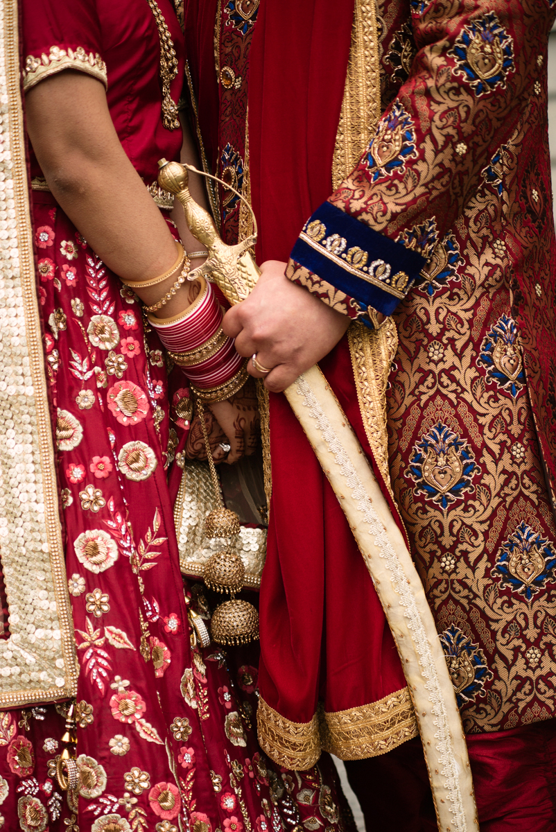 edmonton Indian and filipino wedding bride and groom's hands