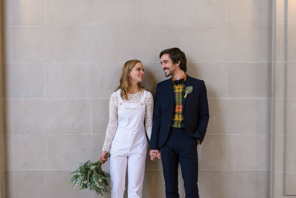 san francisco california city hall elopement wedding overalls 43rd ave photography