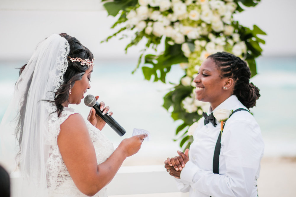 Intimate wedding on the beach Cancun Mexico Amber Robinson Photography Raleigh North Carolina