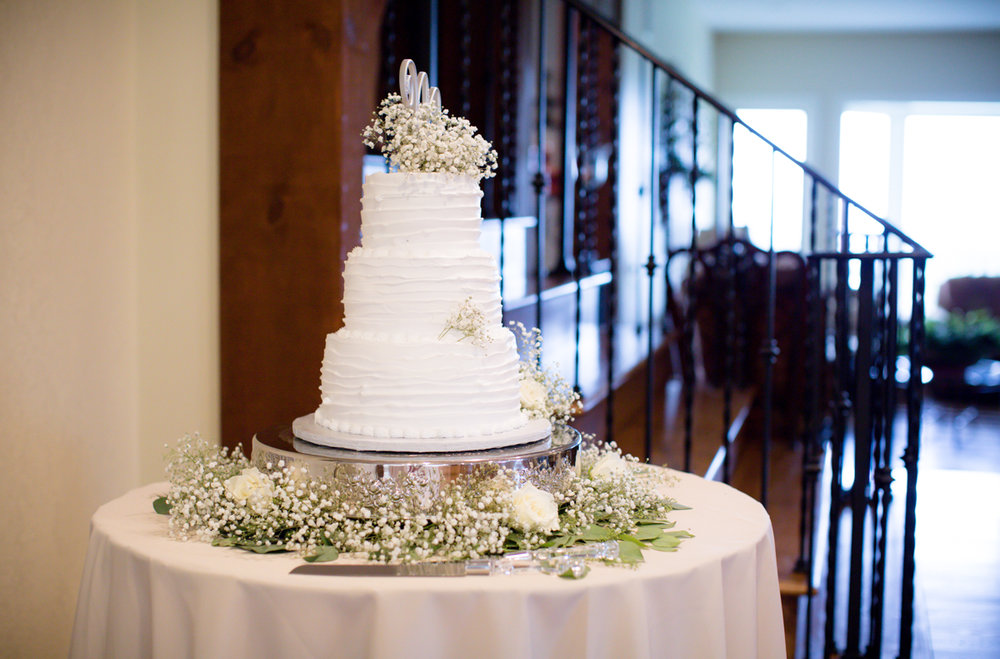 Private Estate Wedding in Boone, NC wedding cake