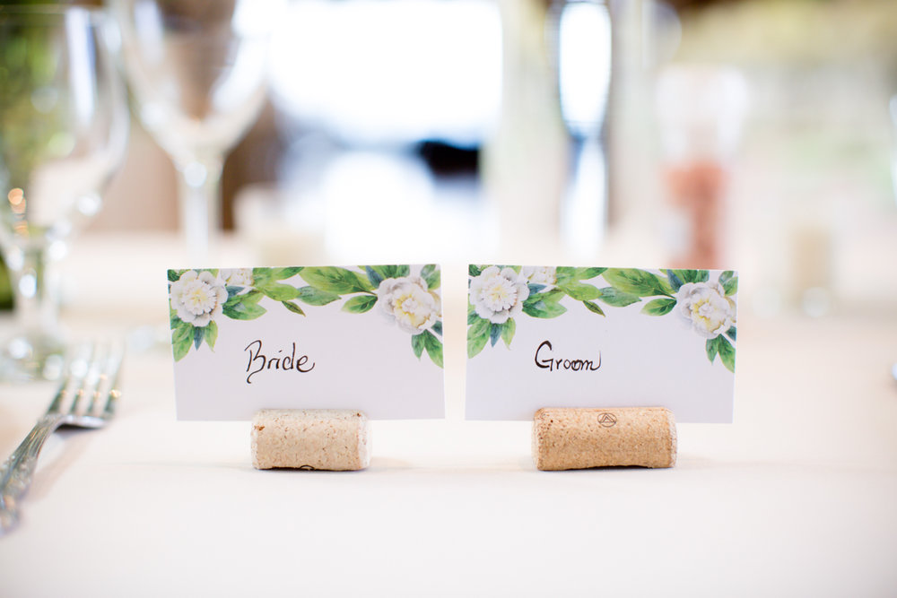 Private Estate Wedding in Boone, NC bride and groom placecards