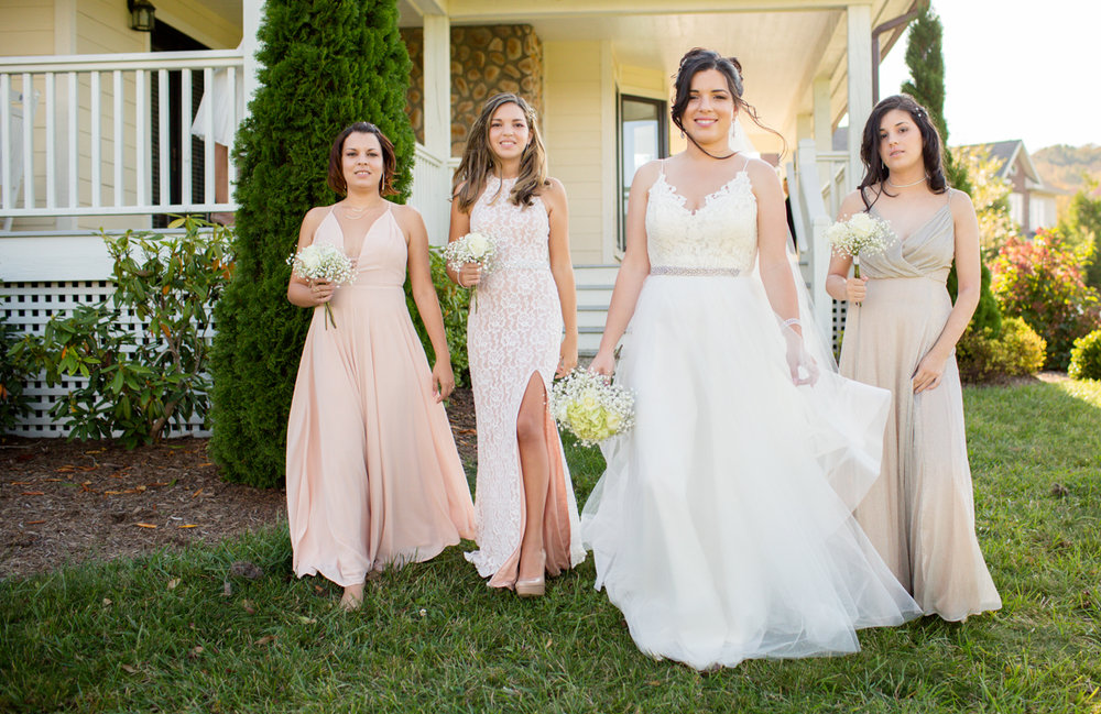 Private Estate Wedding in Boone, NC laura and bridesmaids