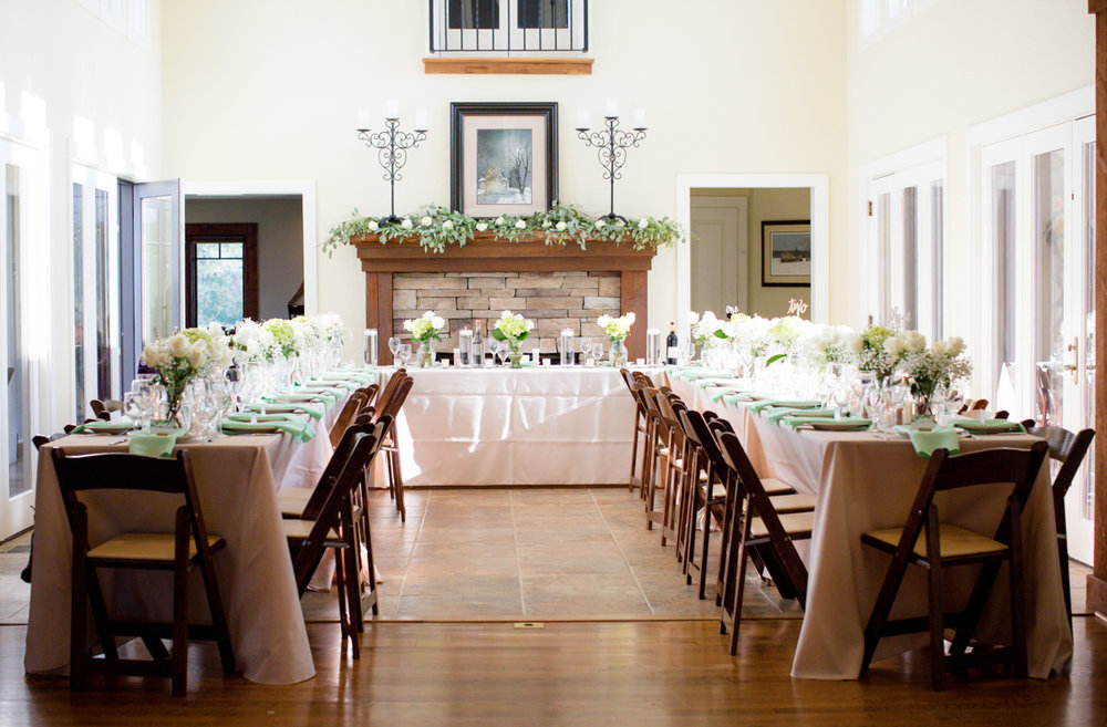 Private Estate Wedding in Boone, NC reception tables