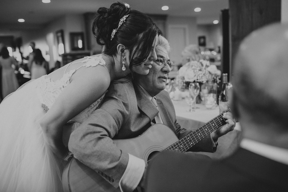 Private Estate Wedding in Boone, NC bride with guitar player