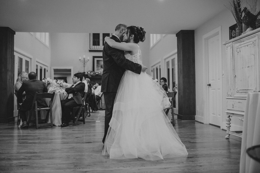 Private Estate Wedding in Boone, NC father daughter dance
