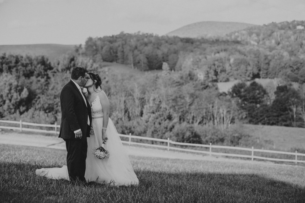 Private Estate Wedding in Boone, NC kiss