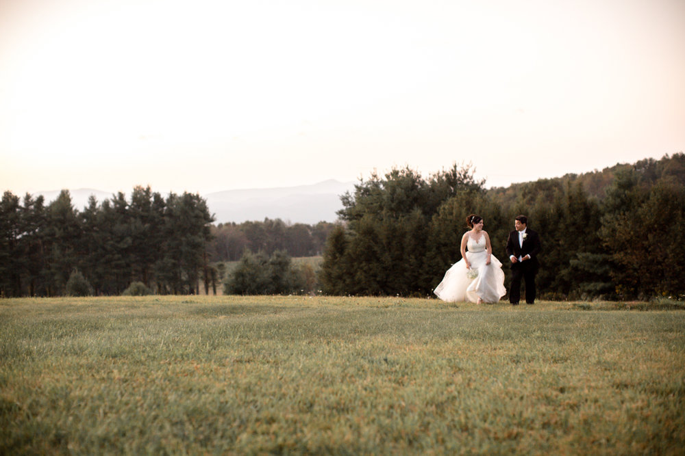 Private Estate Wedding in Boone, NC couple walking