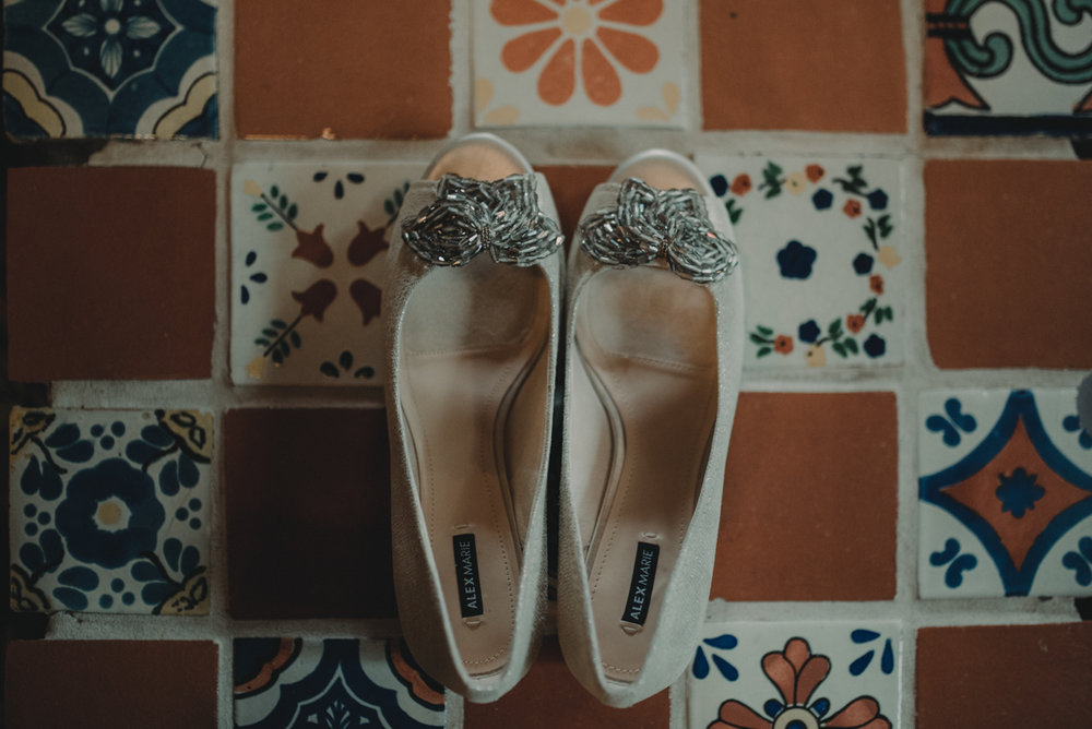 intimate, eclectic austin wedding jennifer's shoes
