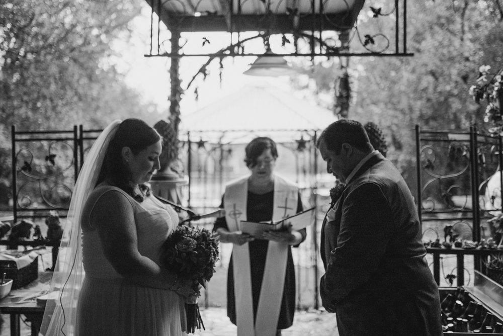 intimate, eclectic austin wedding ceremony