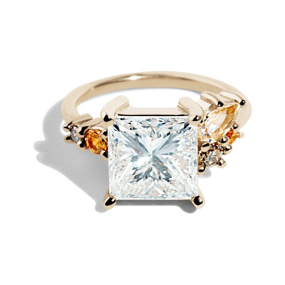Bario Neal Custom Heirloom Princess Cut Diamond Ring