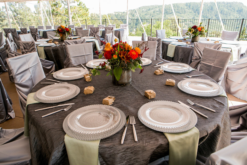 colorado castle wedding table settings