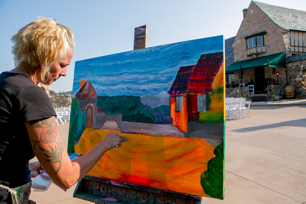 colorado castle wedding artist painting venue landscape