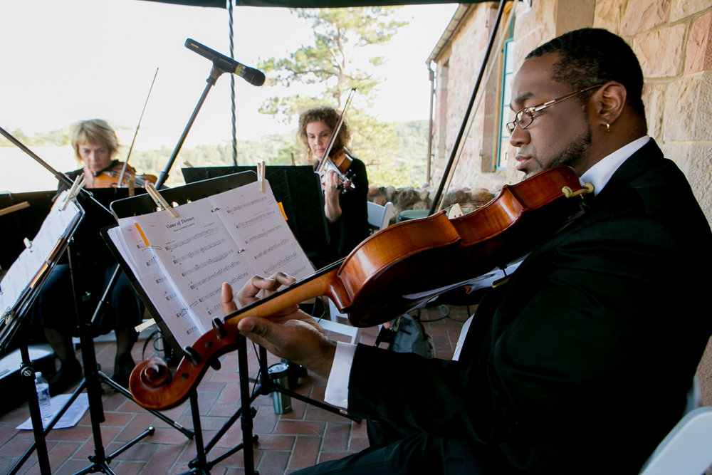 colorado castle wedding orchestra playing