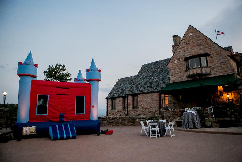 colorado castle wedding bouncy castle outside