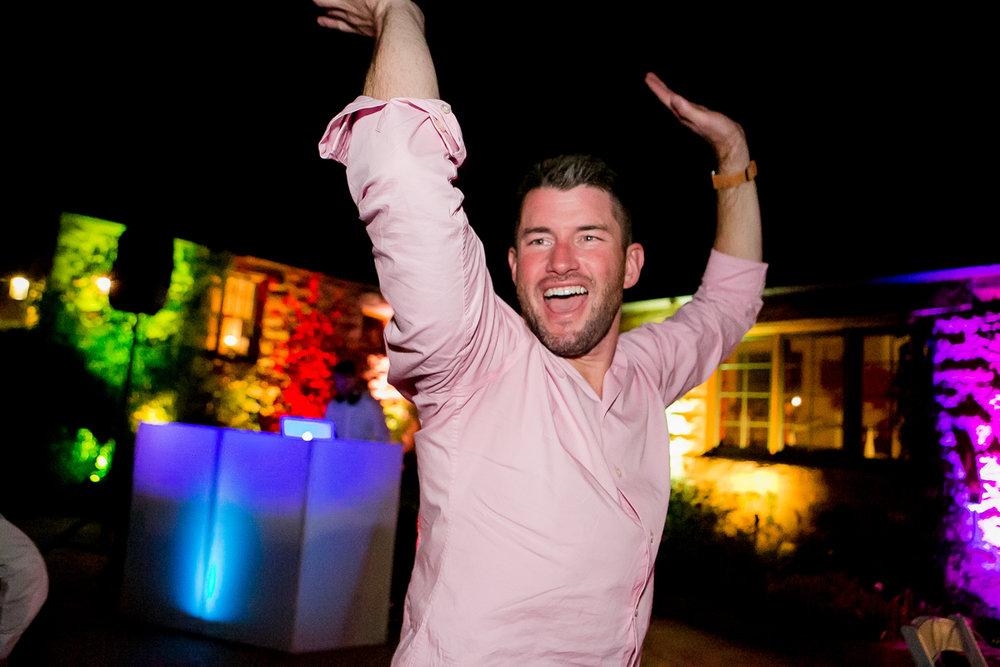 colorado castle wedding guest dancing
