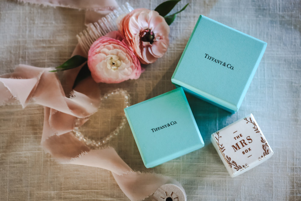 Dreamy pastels dallas texas ring boxes, hair pin, bracelet, and ribbon