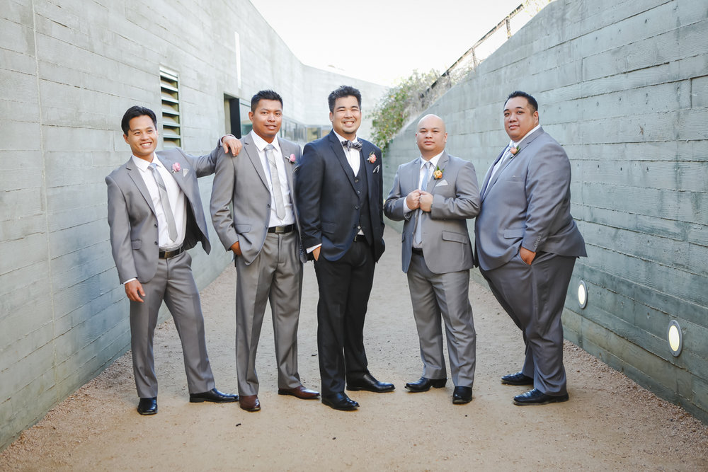 Dreamy pastels dallas texas groom with groomsmen