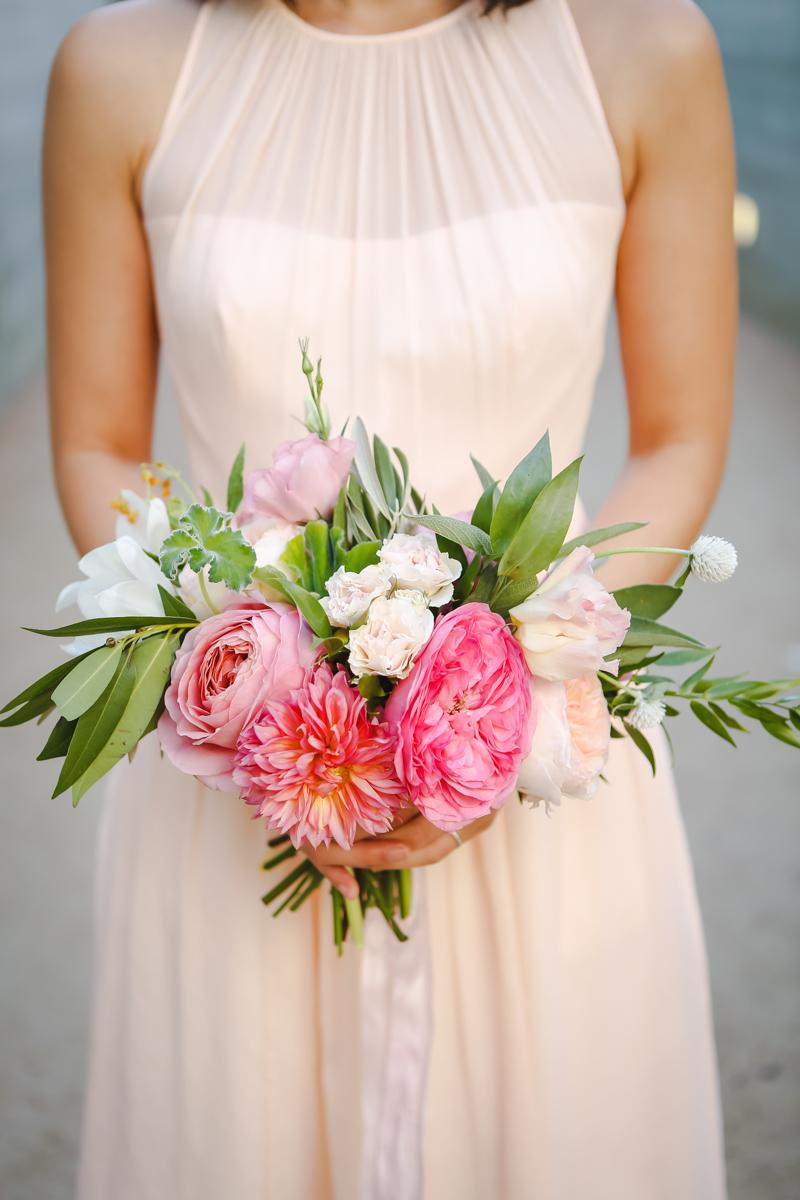 Dreamy pastels dallas texas bridesmaid with bouquet