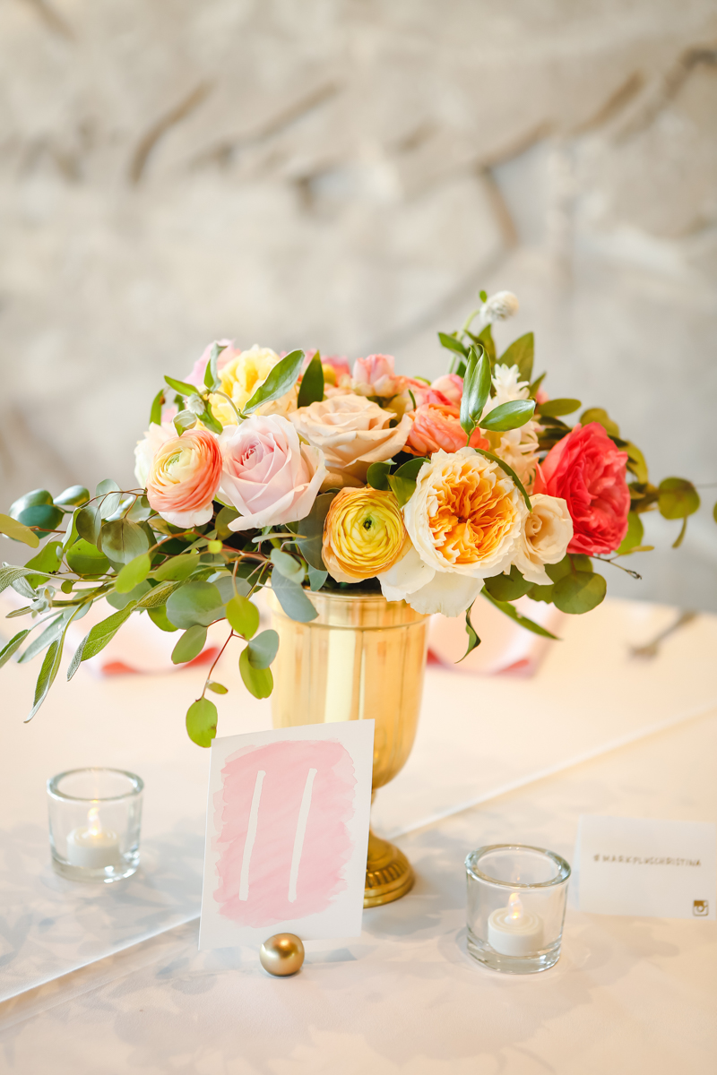 Dreamy pastels dallas texas table with floral centerpiece