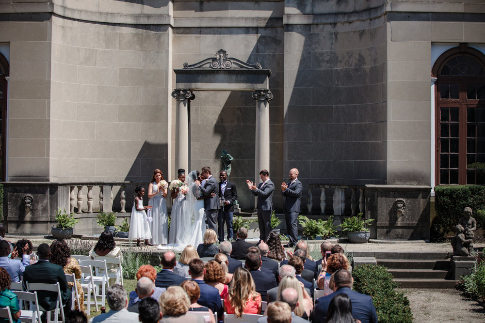 Glam cleveland museum wedding ceremony