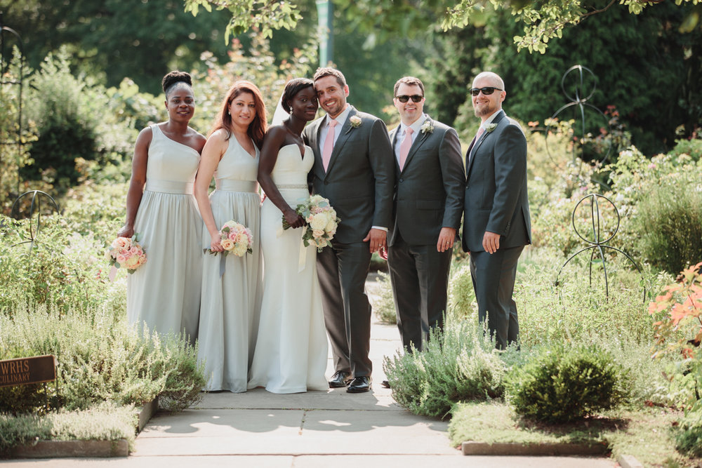 Glam cleveland museum wedding wedding party