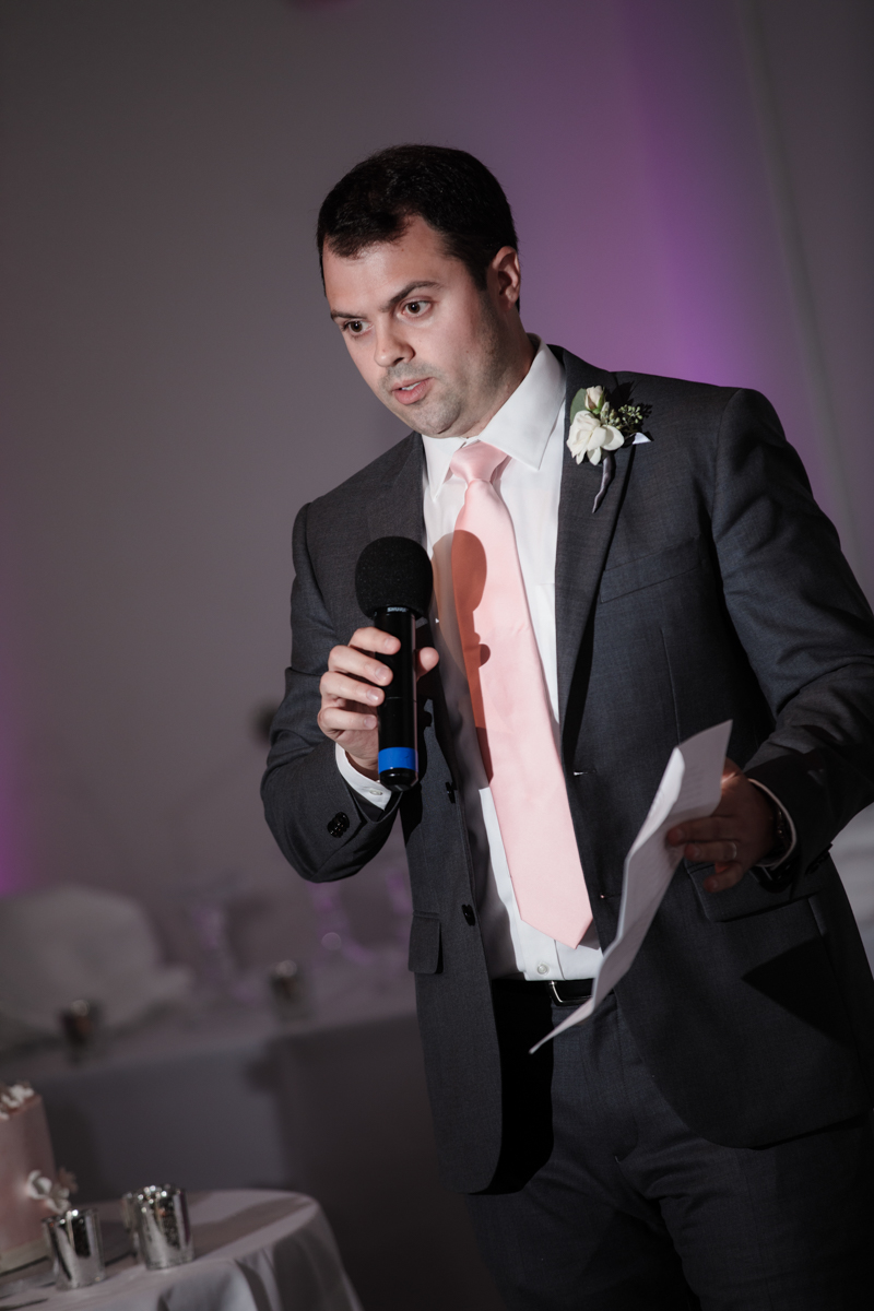 Glam cleveland museum wedding best man giving speech