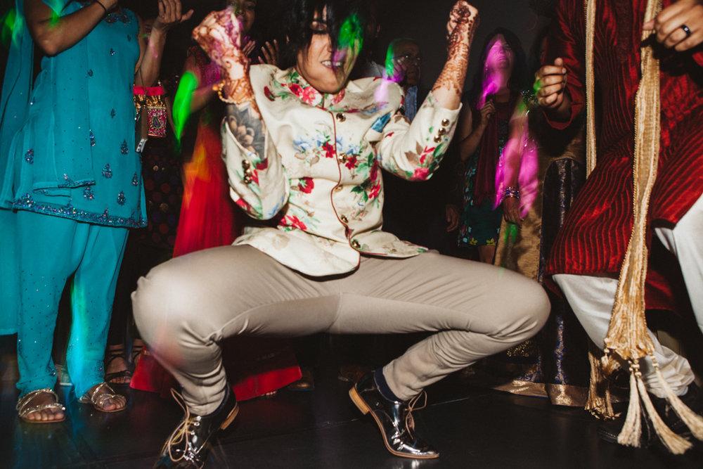 Denver Same-Sex Indian Wedding monica dancing