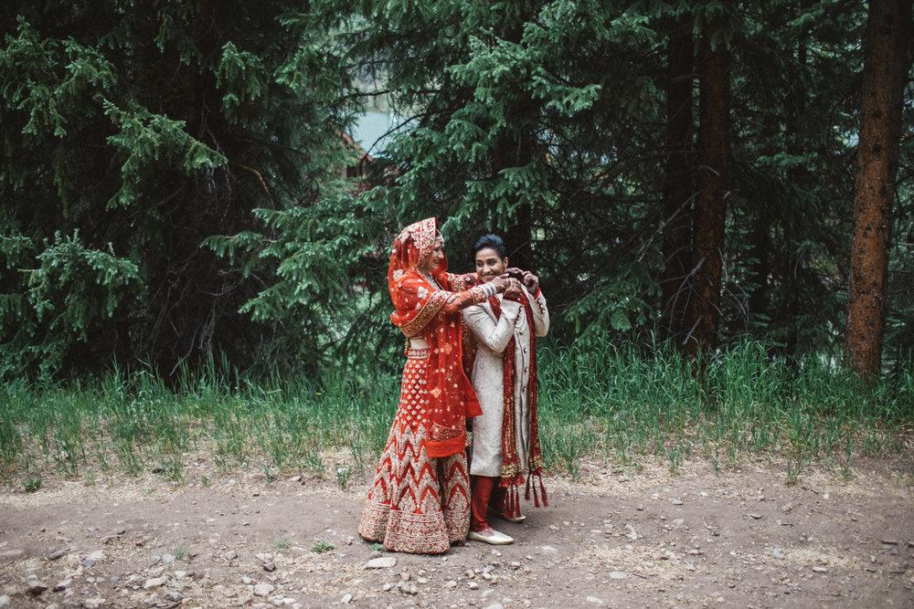 Denver Same-Sex Indian Wedding first look