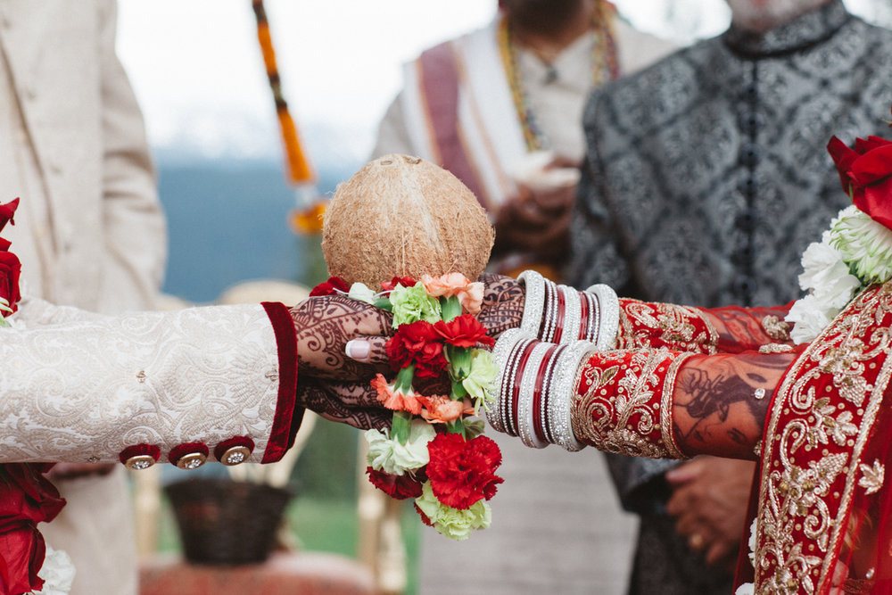 Denver Same-Sex Indian Wedding tied hands