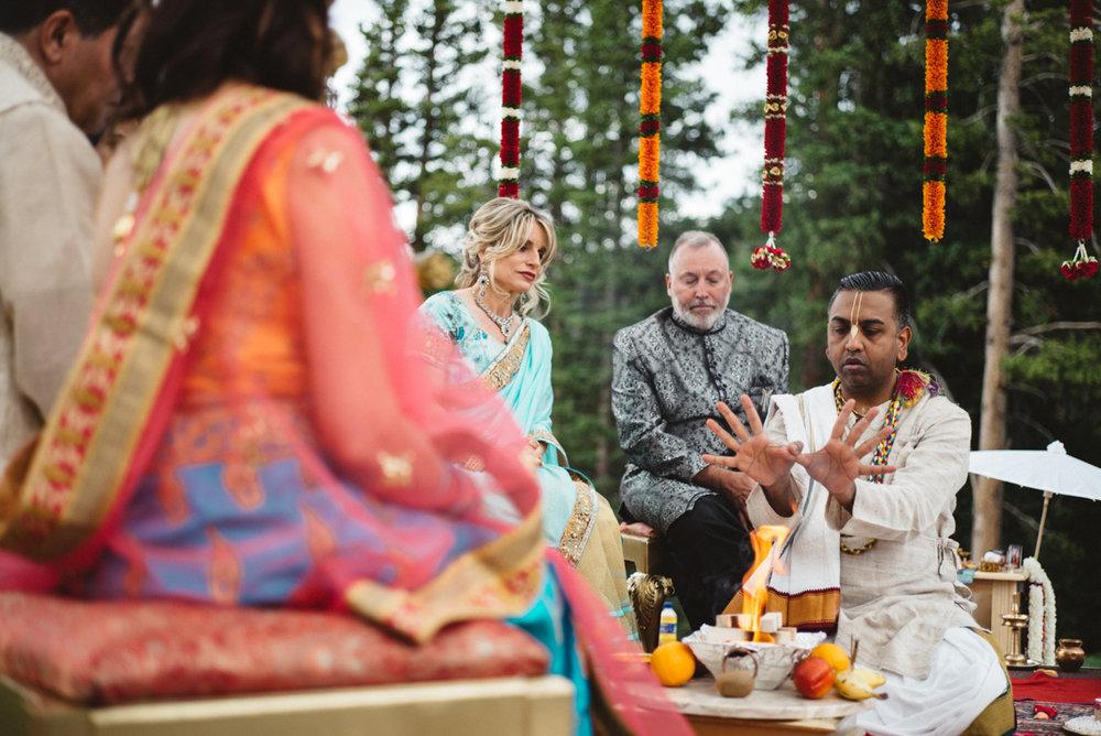 Denver Same-Sex Indian Wedding pundit during ceremony