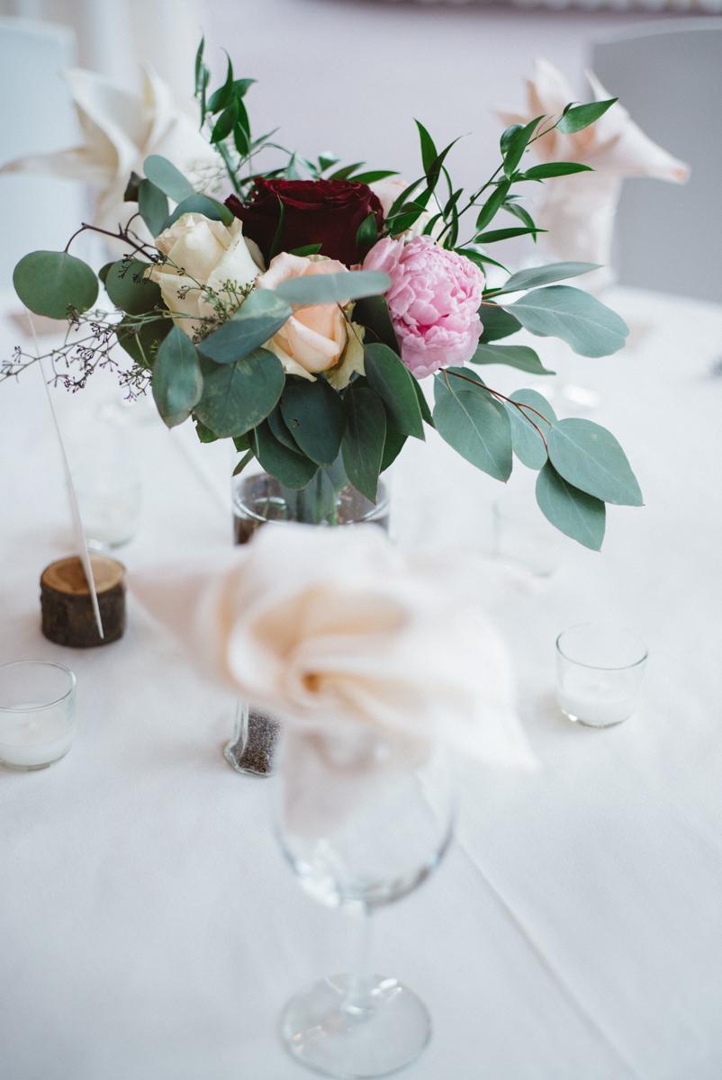 denver same-sex indian wedding floral table centerpiece