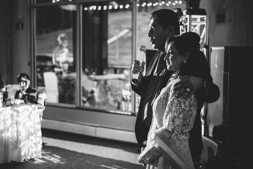 denver same-sex indian wedding monica's parents making speech