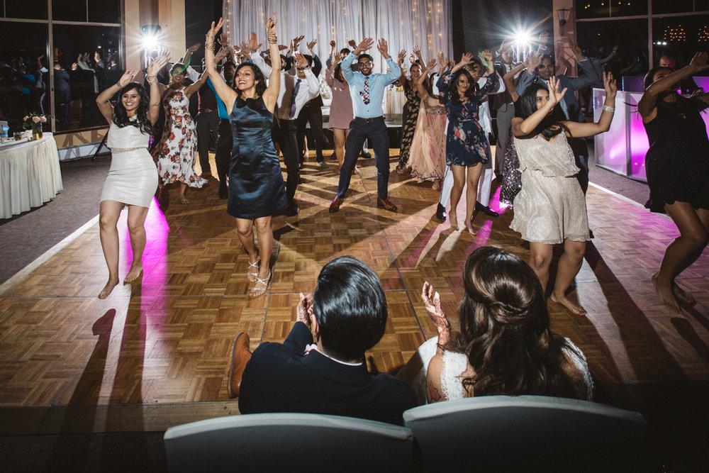 denver same-sex indian wedding coordinated dance for couple