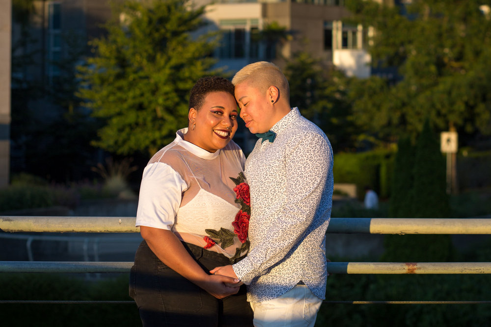 "vancouver ""just because"" photo shoot embrace in sunset light"