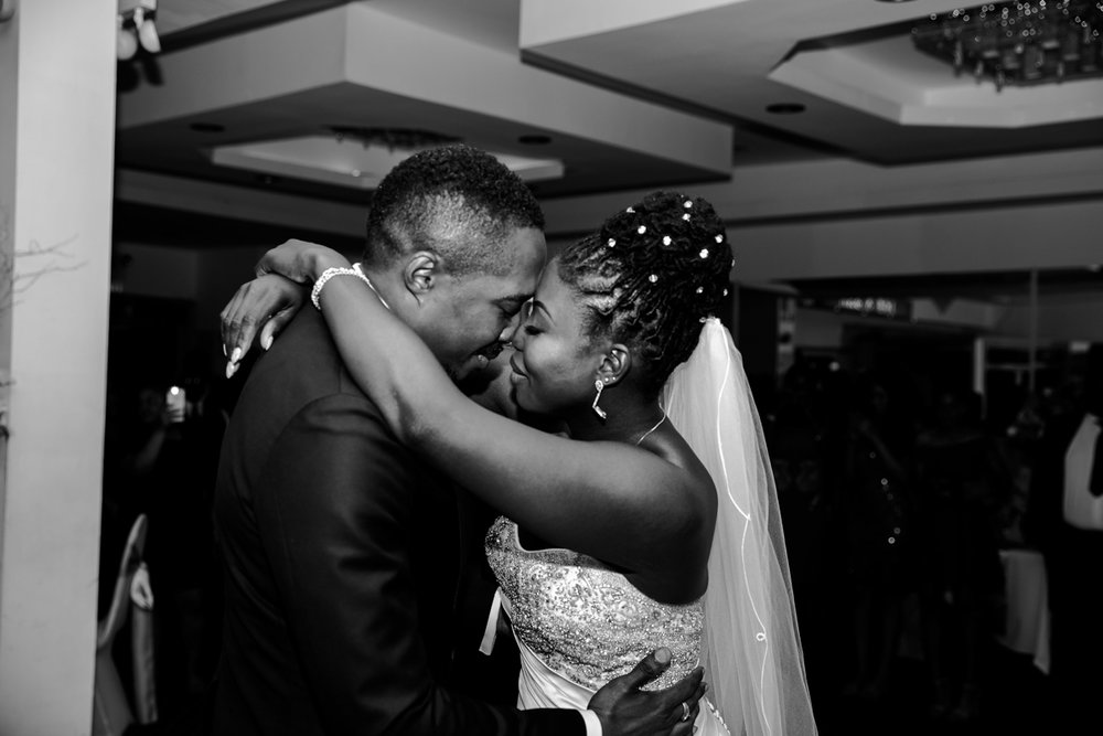 Caribbean NYC wedding couple dancing