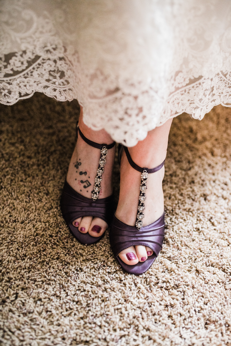 Rustic italian wedding candess's shoes