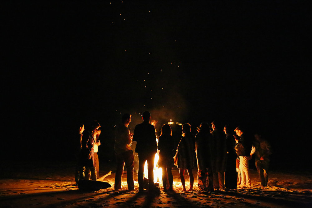 gulf shores destination wedding bonfire