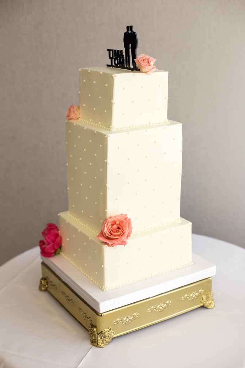 Eliselegant, heartfelt alexandria, va wedding cake with silhouette cake topper