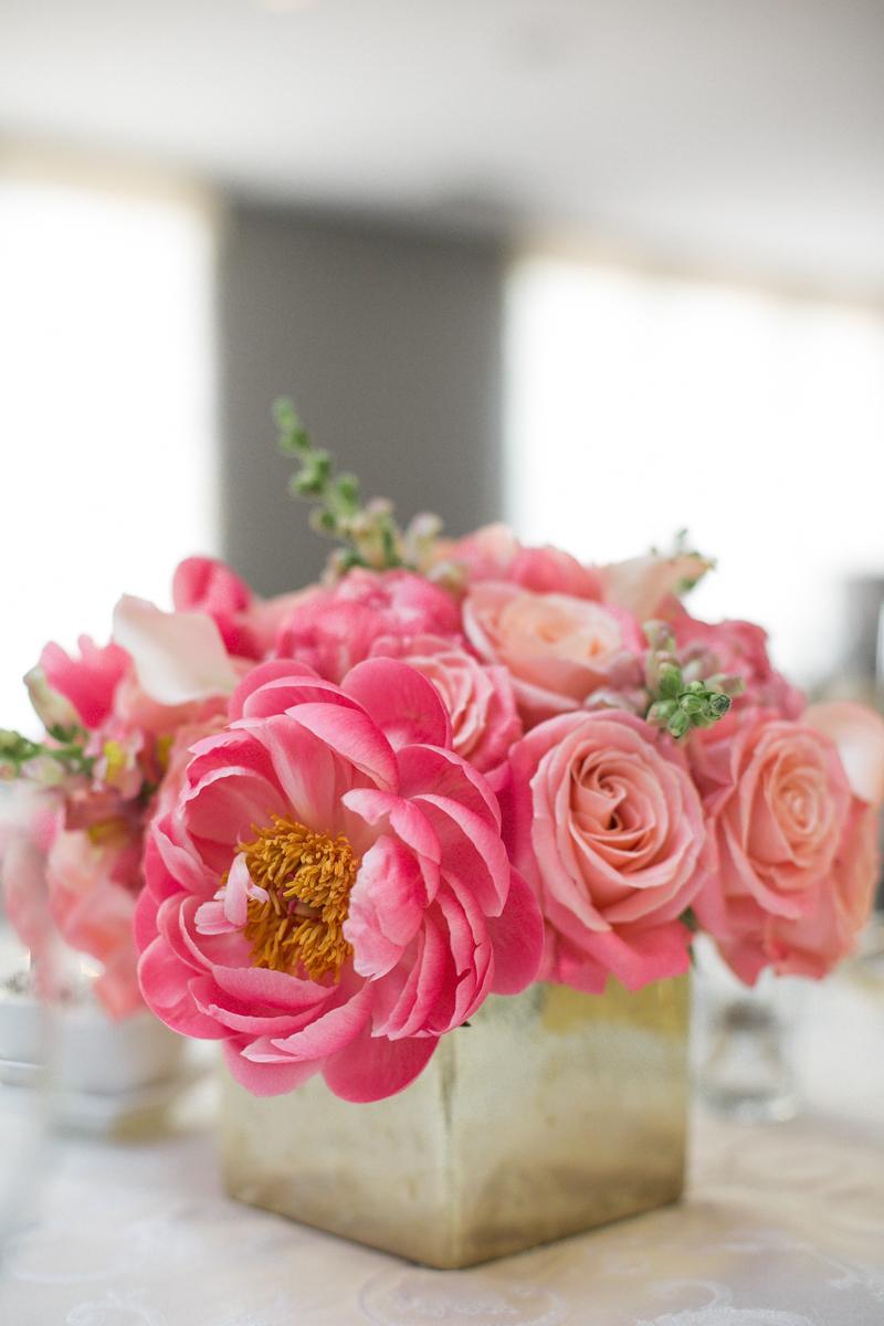elegant, heartfelt alexandria, va wedding floral centerpiece