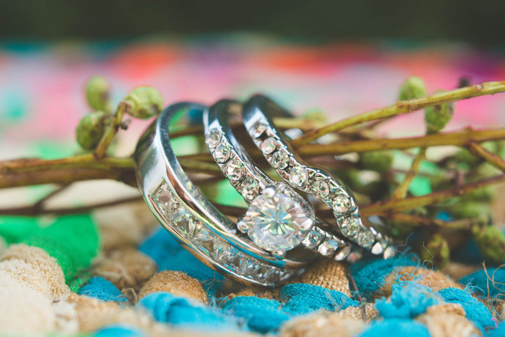 Bohemian Styled Shoot Rings on Plant Branch