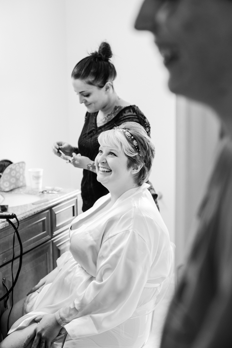 saratoga springs wedding bride getting ready