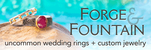 Forge & Fountain: uncommon wedding rings and custom jewelry based in the bay area