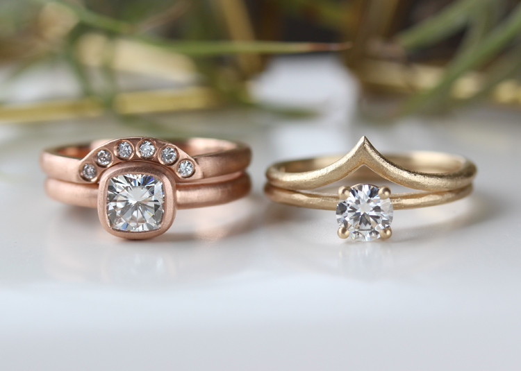 modern geometric engagement rings