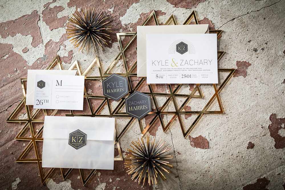 Invitations by  Paperdoll Design  Photo by  Dragon Studio