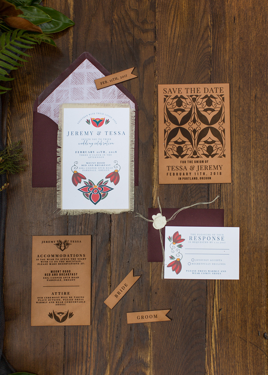 Invitations by  Letters & Dust  Photo by Gina Neal Photography